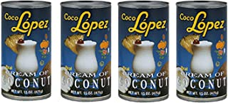 Cream of Coconut Coco Lopez Set of 4 Can
