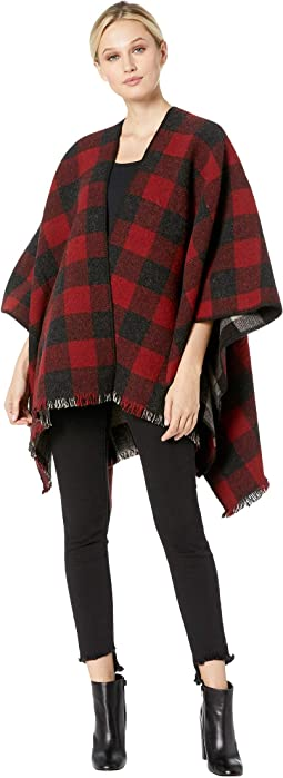 Red/Charcoal Mix Buffalo Check Ombre