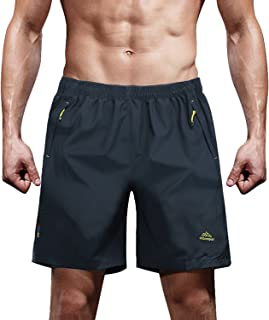 Men's Outdoor Quick Dry Sports Shorts with Zipper Pockets