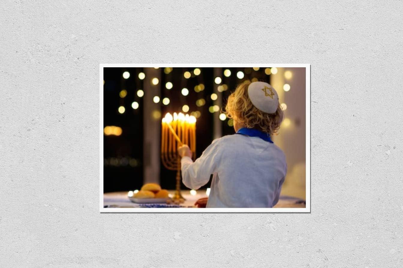 KwikMedia Poster Reproduction of Kids Celebrating shopping Max 84% OFF Jewi Hanukkah.