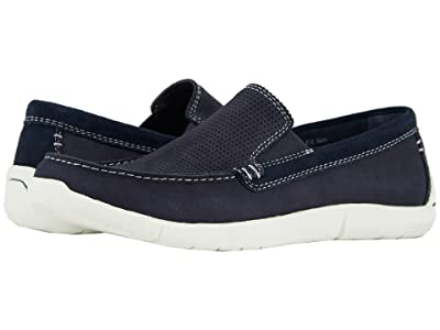 Dockers Alcove Moc Toe Loafer (Navy Tumbled Nubuck) Men