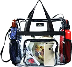 MAY TREE Clear Tote Bag Stadium Approved,Transparent Tote Bag Stadium Security Travel and Gym Clear Bag, See Through Tote Bag for Work, Sports Games and Concerts-12 x12 x6
