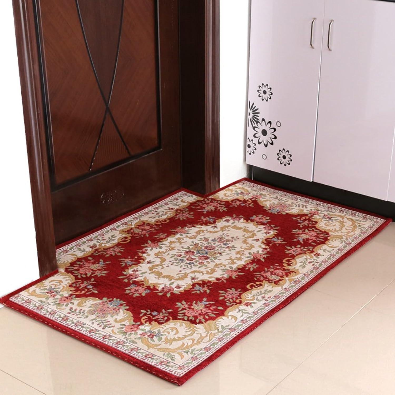 European-Style Entrance Door mats doormats Household Living Room Floor mats-A 90x140cm(35x55inch)