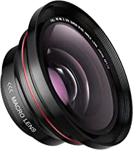72MM 0.39x AOOE Professional HD Wide Angle Lens (w/Macro Portion) for Camcorder Camera No Distortion