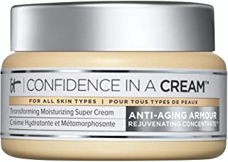 IT Cosmetics Confidence in a Cream - Anti-Aging Facial Moisturizer - Reduces the Look of Wrinkles & Pores, Visibly Brighte...