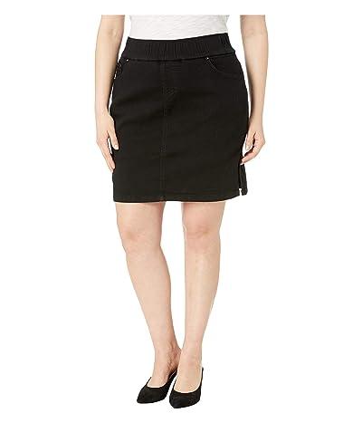 Jag Jeans Plus Size Plus Size On The Go Skort (Black Void) Women