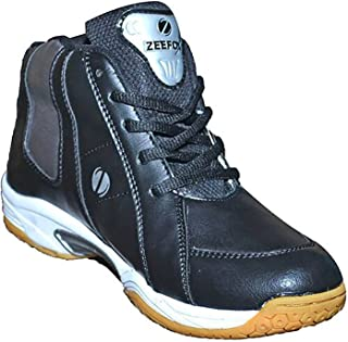 ZEEFOX Men's Leather Basketball Shoes