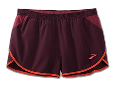 Brooks 3 Hightail Split Shorts (Sangria/Merlot/Paprika) Men