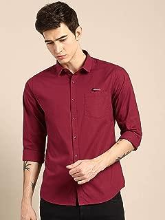 Mens Maroon Casual Shirt