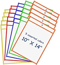 """Board2by Reusable Dry Erase Pockets 25 Pack, Clear 10"""" x 14"""" Write and Wipe Pockets Sleeves Fits Standard Paper, Plastic D..."""