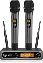TONOR Wireless Microphone, Dual Professional UHF Dynamic Mic Handheld Metal Microphone..