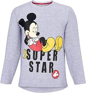 c8c721169266a T-Shirt Manches Longues Enfant garçon Disney Mickey Gris de 3 à 8ans