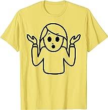 Halloween Emojis Costume Shirt Shrug Shrugging Face Emoticon