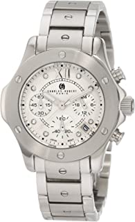 Charles-Hubert, Paris Women's 6782-W Premium Collection Stainless Steel Chronograph Watch