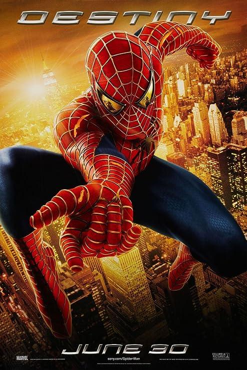Amazon Com Poster De Spiderman 2 Pelicula De 1 Cara Original Destino 27x40 Tobey Maguire Hogar Y Cocina