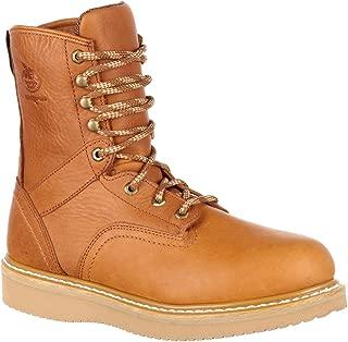 Boot Men's 8 Inch Wedge Steel Toe Work Shoe, Barracuda Gold, 9 M US