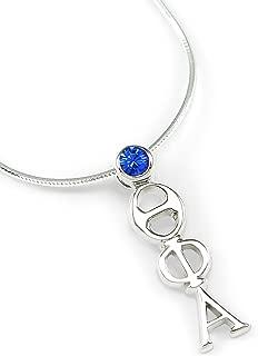 Theta Phi Alpha Sterling Silver Lavaliere with Swarovski™ Blue Crystal