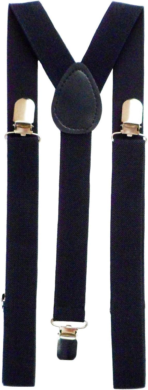 Max-mph Men's Plain Trouser Braces Suspenders