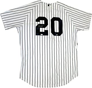 Jorge Posada Autographed Signed Yankees Authentic Home Jersey Autographed Signed In Silver MLB Auth - Certified Signature