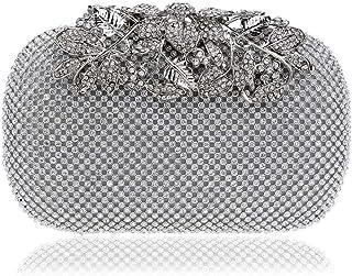 ハンドバッグ レディース ショルダーバッグ ポータブルレディースビーズバッグイブニングドレスと財布ダイヤモンド宴会バッグドレスクラッチ トートバッグ (色 : D)
