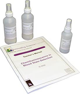 Chemiluminescence in Blood Stain Detection Forensic Kit