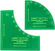 Quilter's Paradise QP031301 Slit N Sew 6in Finished Drunkards Path Templates - Acrylic