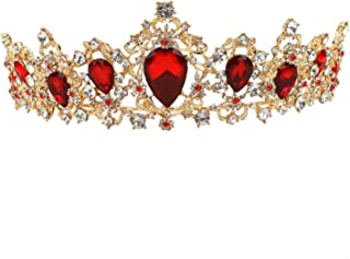 WEFOO Crown Tiara for Women,Crystal Rhinestone Crown Prom Princess Tiara Crown Bridal Wedding Crown Tiara Headband