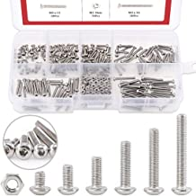 Hilitchi 250-Piece [M2] Stainless Steel Hex Socket Button Head Cap Bolts Screws Nuts Assortment Kit (M2)
