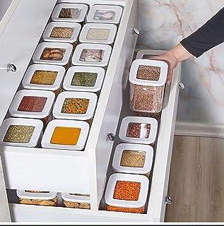 DHGFH 12 pièces boîte de Rangement de Haute qualité Cas Ensemble Alimentaire Couvercle sous Vide Organisateur Cuisine Gard...