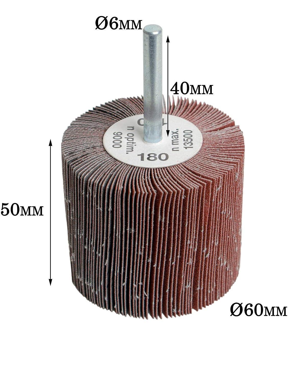 1 kg Lamellenschleifer Fächerschleifer Schleifmop mit Schaft für Bohrmaschine