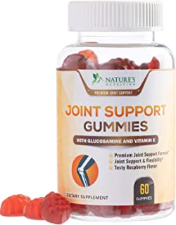 Joint Support Gummies Extra Strength Glucosamine & Vitamin E - Natural Joint & Flexibility Support - Made in USA - Best Cartilage & Immune Health Supplement for Men and Women - 60 Gummies