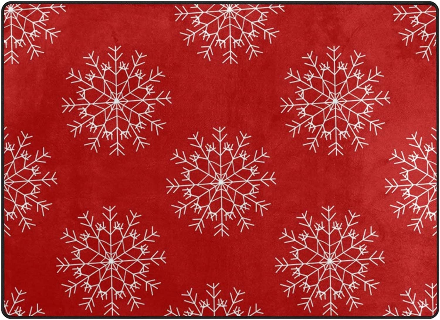 FAJRO Poinsettia New Years Snowflake Polyester Entry Way Doormat Area Rug Multipattern Door Mat Floor Mats shoes Scraper Home Dec Anti-Slip Indoor Outdoor
