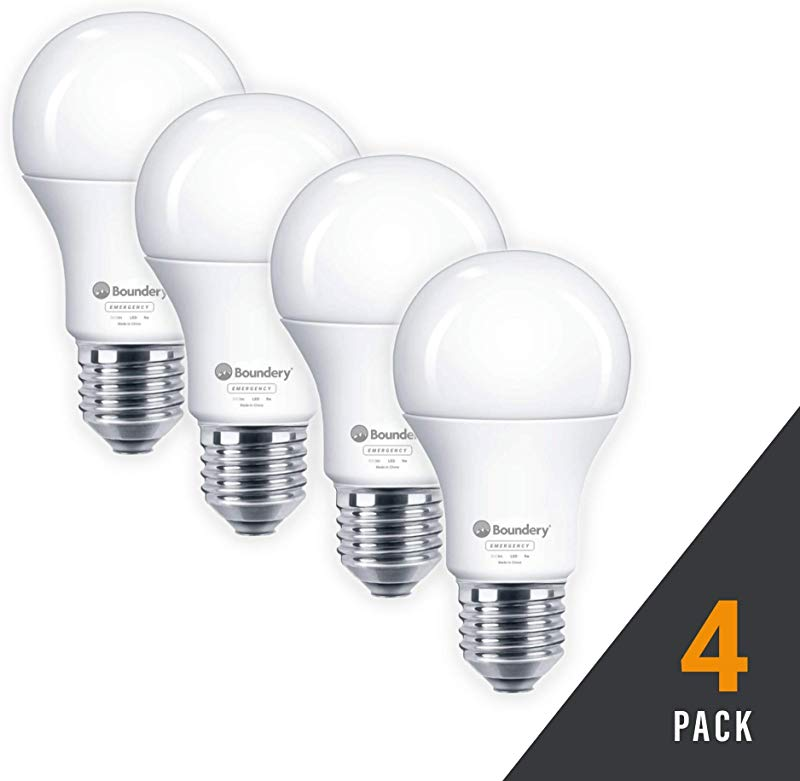 HAYLO Emergency Power Failure LED Light Bulb Safety During Power Outage Lights Up Automatically When Power Fails Rechargeable Battery Works Like Ordinary Bulbs 3500K Hurricane 9W 120V 60W