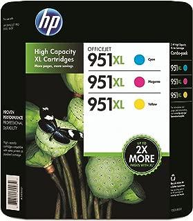 HP 951XL High Yield Original Ink Cartridge, Cyan/Magenta/Yellow