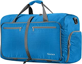 Gonex 60L Foldable Travel Duffel Bag Water & Tear Resistant, Blue