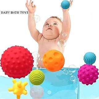 IGOOUO Bath Toys Water Balls Baby Early Education Puzzle Hand Catch Ball Bathroom Spray Water Ball Children Bath Toys