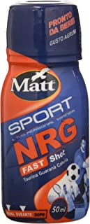 Matt Sport - Nrg Fast Shot - Bevanda Energetica, Energy Drink con Taurina, Guaranà e Caffeina - Integratore Alimentare Liq...