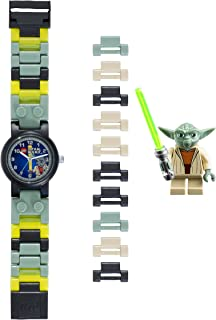 LEGO Star Wars 8020295 Yoda Kids Buildable Watch with Link Bracelet and Minifigure | green/