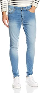 ENZO Mens Super Skinny Slim Fit Stretch Denim Retro Jeans Pants