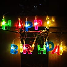 Party Propz Happy Birthday Lights - 13 LED Letter Battery Operated String Lights 6ft for Birthday Party Decor Supplies for...