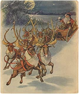 CafePress Vintage Christmas Santa Claus Soft Fleece Throw Blanket, 50