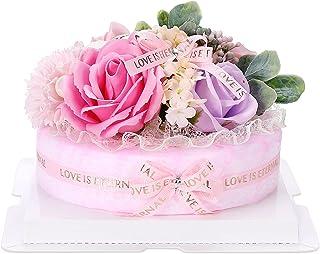 ソープフラワー ケーキー 造花 香り 母の日 彼女 友達 家族 誕生日 記念日 プレゼント お祝い ギフト バラの花(ピンク)