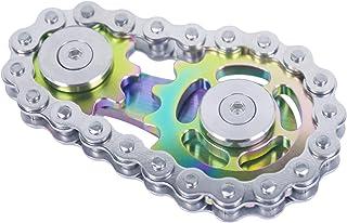 DMaos Fidget Spinner, Linkage Bike Chain Spinner Design 2 Gears Figity Spin Finger Games, Metal Stainless Steel Durable Me...