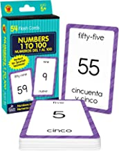 Carson Dellosa - Numbers 1 to 100 / Numeros 1 al 100 Flash Cards - ESL Bilingual Spanish Counting Cards for Kindergarten T...