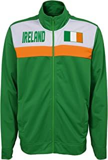 Outerstuff Men's Track Jacket, Green, Medium