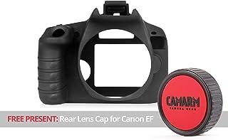 Camarm - Carcasa de Silicona para cámara Canon EOS Rebel T7 (2000D) Color Negro