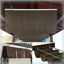 PENGFEI Intrekbare Pergola Luifel Schaduw Cover, Zonbescherming Permeable Luifel, 90% UV-bescherming Dak Zon Room Wave Sha...