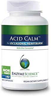 Sponsored Ad - Enzyme Science™ Acid Calm™, 90 Capsules – for Occasional Heartburn and Indigestion – Digestion Enzyme Suppl...