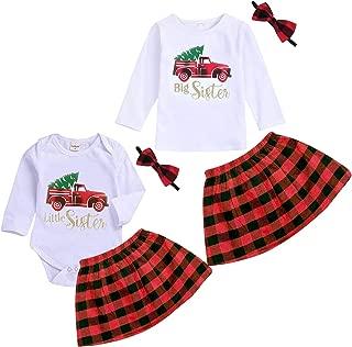 matching newborn and toddler christmas dresses