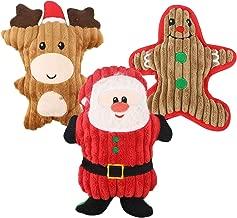 Juguete para Perros, 3 Piezas Juguetes Interactivos con Sonido para Mantener a su Perro Sano Santa Claves gingerman Reno